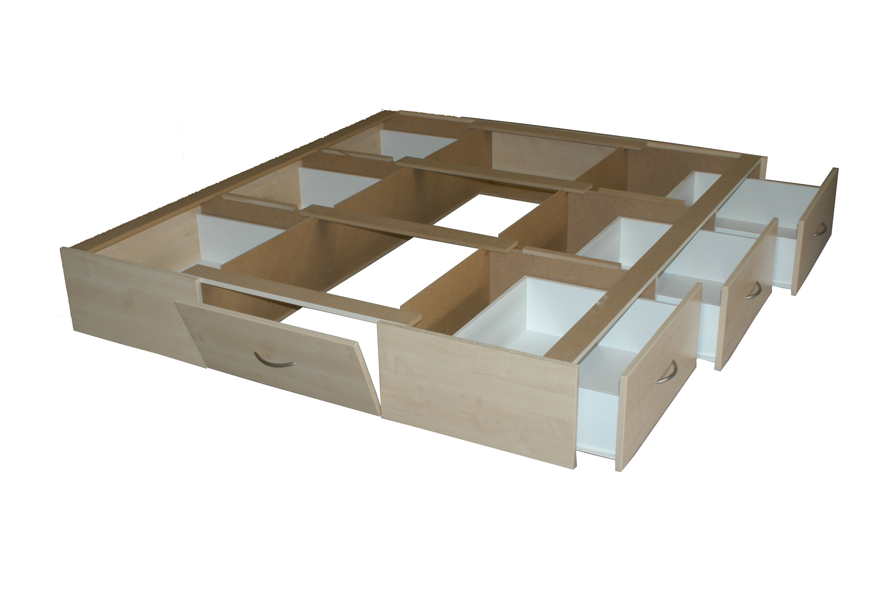 Wasserbett aufbau  Wasserbett DUAL mit 6-Schubladensockel, Bettrahmen & Kopfteil ...