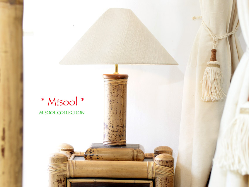 bambus nachttischlampe misool. Black Bedroom Furniture Sets. Home Design Ideas
