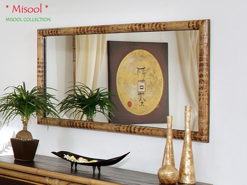 Schlafzimmer Spiegel aus Bambus Misool
