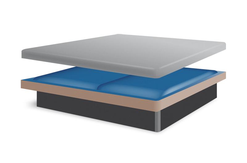 wasserbett dual mit sockel. Black Bedroom Furniture Sets. Home Design Ideas
